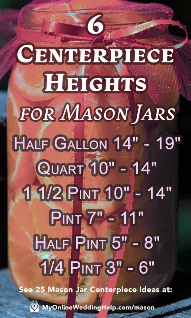 Centerpiece Heights for Mason Jars