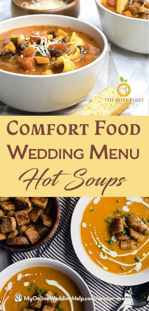 Comfort Food Wedding Menu. Hot Soups.