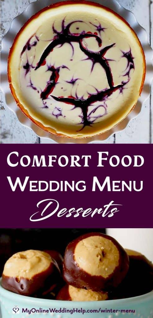 Comfort Food Wedding Menu. Desserts.