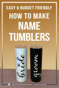 How to Make DIY Tumbler Cups