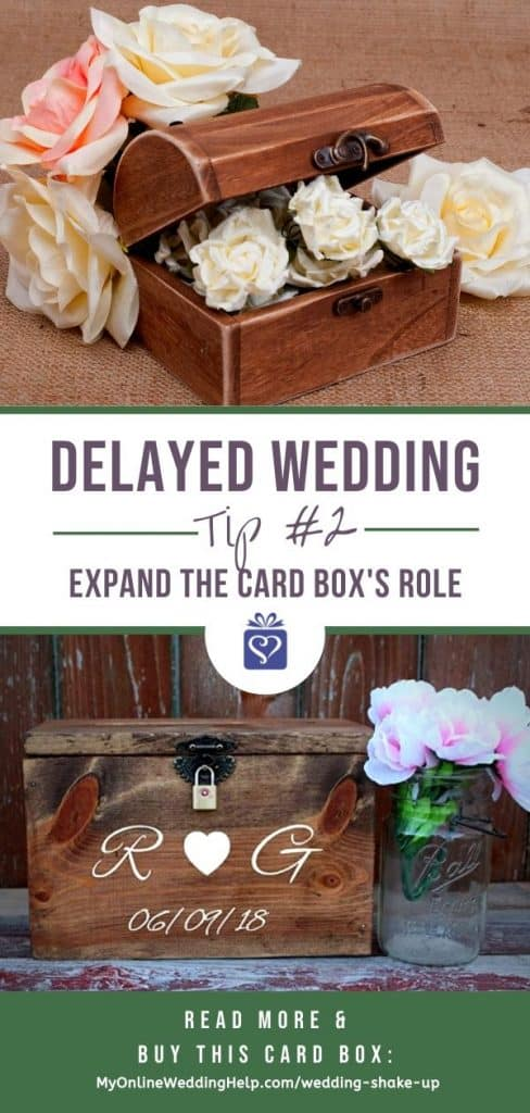 Delayed Wedding Tip No. 2 - Expand the card box use to include project supplies and organization