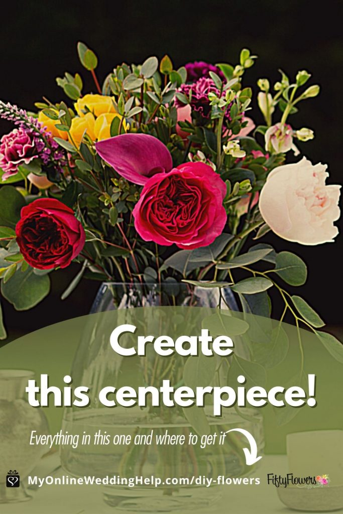 Create this Centerpiece. What's in the centerpiece and where to find the flowers and greenery.